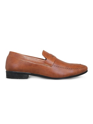 brown leatherette slipons - 16158018 - Standard Image - 2