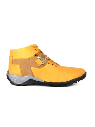 orange leatherette low ankle boots - 16158087 - Standard Image - 2