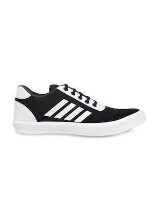 black fabric lace up sneakers - 16174303 - Standard Image - 2