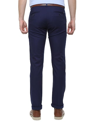blue cotton chinos - 16174437 - Standard Image - 2