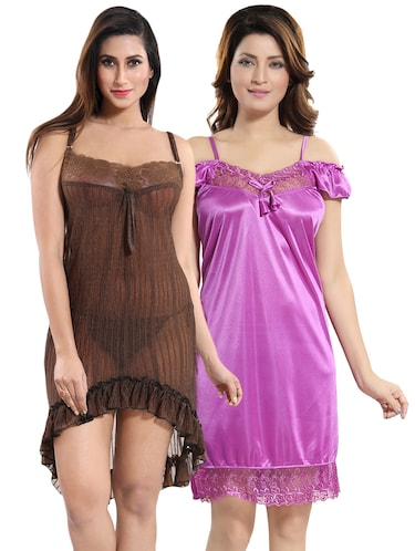 9b185a05ac26 Buy night dress for woman sexy honeymoon in India   Limeroad