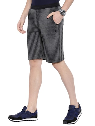 grey striped shorts - 16178736 - Standard Image - 2