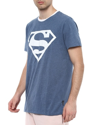 blue polyester character t-shirt - 16179989 - Standard Image - 2
