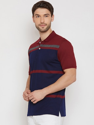 navy blue polo t-shirt - 16186198 - Standard Image - 2