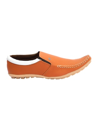 tan leatherette slip on slipons - 16188686 - Standard Image - 2