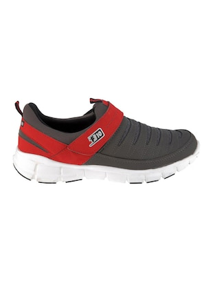 grey leatherette sport shoes - 16191296 - Standard Image - 2