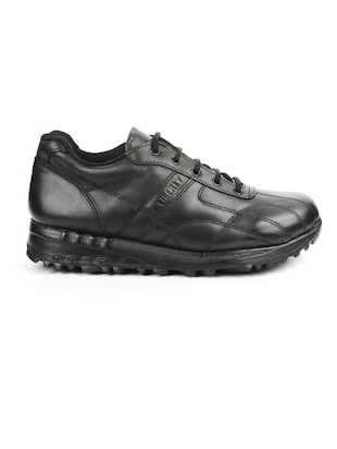 black leather sport shoes - 16191322 - Standard Image - 2