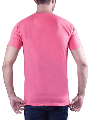 pink typographic chest print tshirt - 16193946 - Standard Image - 2