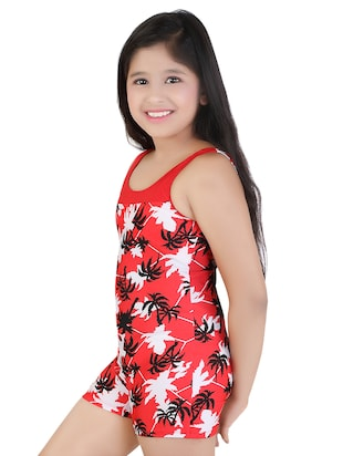 red nylon functional swimsuits swimwear - 16194749 - Standard Image - 2