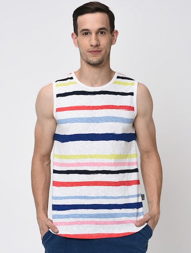 a553b441fa568 Buy Sleeveless T-shirts For Men in India   Limeroad