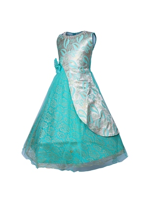 light blue net party gown - 16203367 - Standard Image - 2