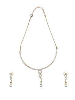 Gold Designer Necklace Set - Oleva