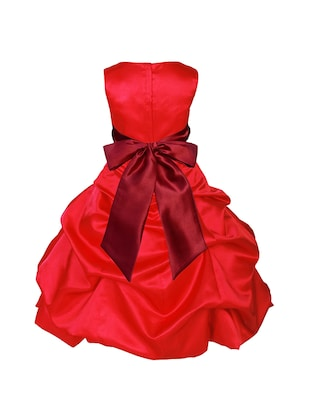 red polyester frock - 16221632 - Standard Image - 2