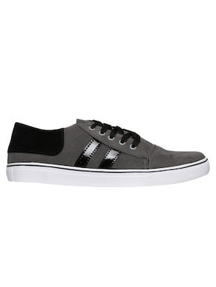 grey velvet lace up sneakers - 16224356 - Standard Image - 2