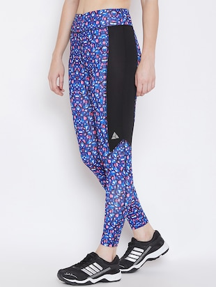 contrast panel abstract legging - 16230177 - Standard Image - 2