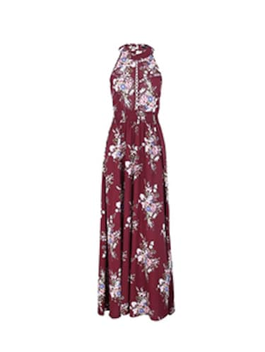halter neck floral maxi dress  - 16232837 - Standard Image - 1