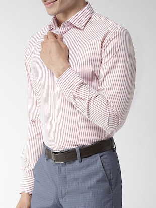 red striped formal shirt - 16238121 - Standard Image - 2