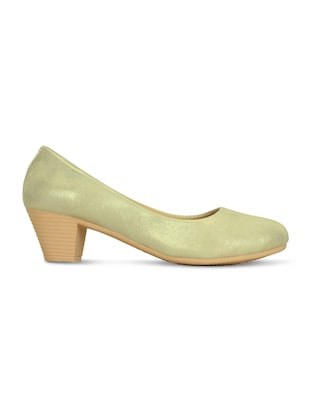 gold slip on pumps - 16239555 - Standard Image - 2