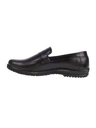 black leather slipons - 16240812 - Standard Image - 2