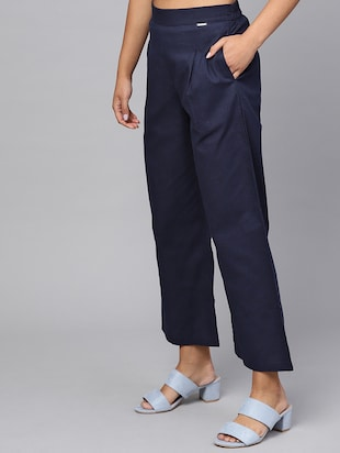pleat detail high rise trouser - 16245519 - Standard Image - 2