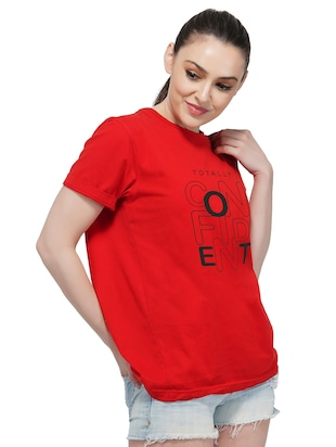 crew neck quirky text tee - 16249743 - Standard Image - 2