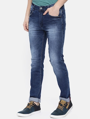blue heavy washed jeans - 16252606 - Standard Image - 2