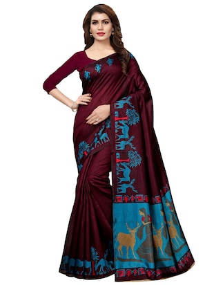 multi color saree combo (set of 2) with blouse - 16258799 - Standard Image - 2