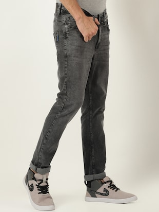 grey denim light washed jeans - 16265181 - Standard Image - 2