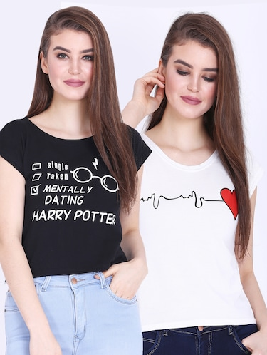 30bb27b8 T Shirts for Women - Upto 70% Off   Buy Womens Designer Printed T Shirts at  Limeroad