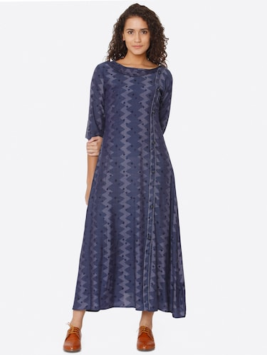 a02be5b1 Buy Contrast Flared Dress With Tassels for Women from Bright Cotton for  ₹899 at 44% off | 2019 Limeroad.com