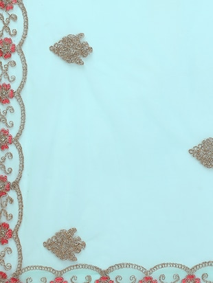 floral embroidered flared lehenga - 16287462 - Standard Image - 5