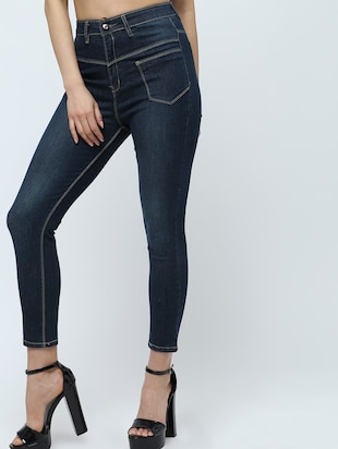 high rise stone washed jeans  - 16289706 - Standard Image - 2