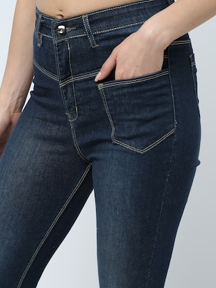 high rise stone washed jeans  - 16289706 - Standard Image - 5