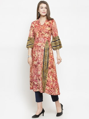abstract printed kurta pant set - 16303595 - Standard Image - 2