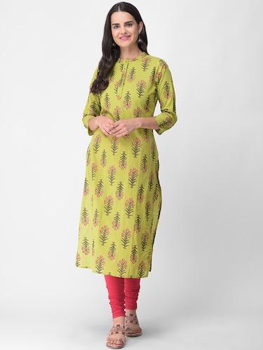 Green Kurta- Buy Green Kurti for girls, Short Kurtis Online