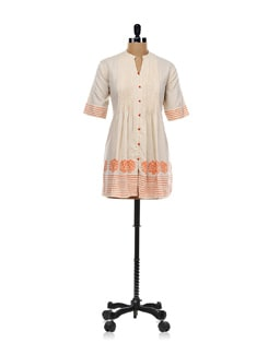 Elegant Linen Button Down Kurta - Global Desi