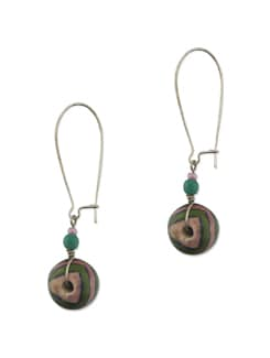 Green Striped Earring - Eesha Zaveri; Jewellery By Design