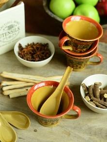 Tropical Soup Mugs-Kalamkari-Set Of 6 - Cultural Concepts
