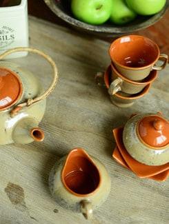 Italian Tea Set- Cane Handle- Set Of 15pcs - Cultural Concepts 17131