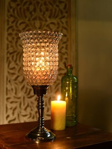 Hurricane Crystal Candle Stand - Cultural Concepts
