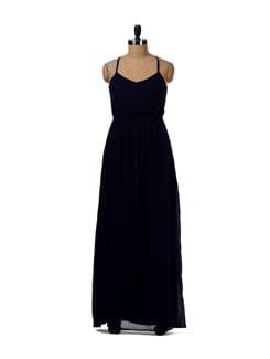 Navy Blue Maxi Dress - Femella