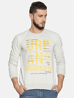 white chest print sweatshirt