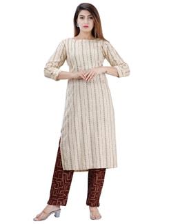 striped kurta pant set