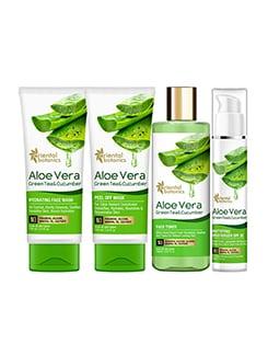 oriental botanics aloe vera, green tea & cucumber skin hydrating combo