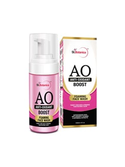 stbotanica anti oxidant boost foaming face wash