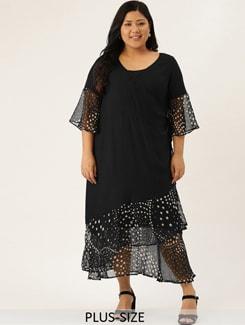 bell sleeved overlap neck maxi dress