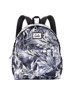 black polyester backpack