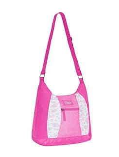 pink polyester messenger sling bag