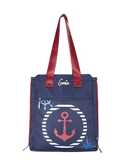 blue polyester tote