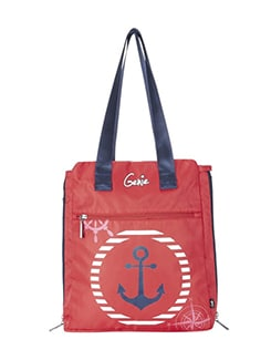 red polyester tote
